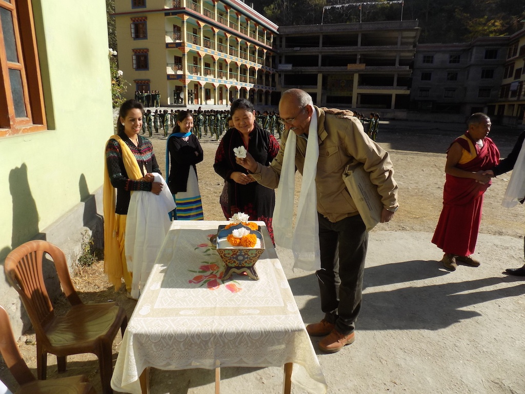 Welcome Ritual At Arrival Himalayan Buddhist Cultural School Manali